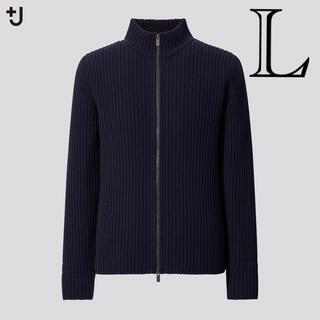 Jil Sander - 値下げ ユニクロ ジルサンダー ミドルゲージリブフルジップセーター