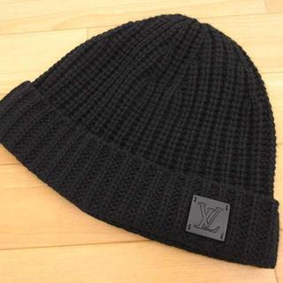 ルイヴィトン(LOUIS VUITTON)の美品 ルイヴィトン M76045 ボネ LV ニットヘッド ニット帽 19年製(ニット帽/ビーニー)