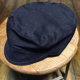 ダブルアールエル(RRL)の50's ROF Marine Style Peaked Blue Cap(キャップ)