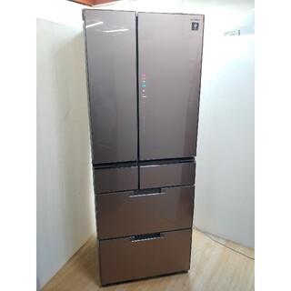 SHARP - 冷蔵庫 業界トップクラス ガラストップデザイン 高機能 人気のサテンブラウン