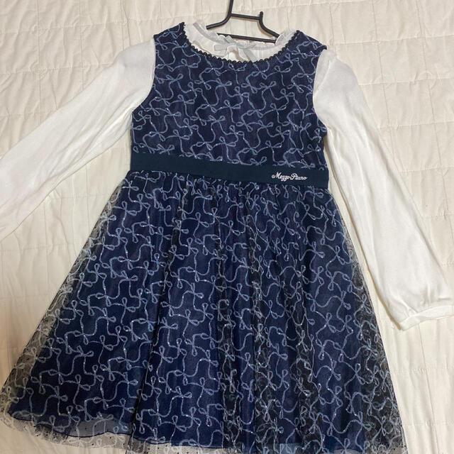 mezzo piano(メゾピアノ)のメゾピアノ ドレス フォーマル 130 キッズ/ベビー/マタニティのキッズ服女の子用(90cm~)(ドレス/フォーマル)の商品写真