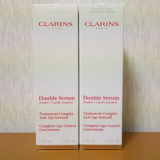 クラランス(CLARINS)の[新品送料込,50ml,2本] クラランス ダブルセーラム EX CLARINS(美容液)