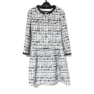 ルネ(René)のルネ ワンピーススーツ サイズ36 S 白×黒(スーツ)