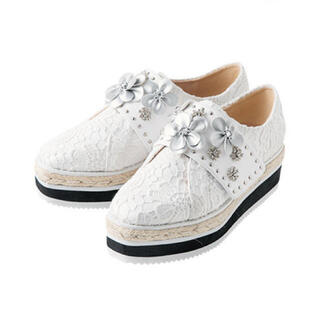 チェスティ(Chesty)のchesty チェスティ Flower Platform Shoes ホワイト(スニーカー)