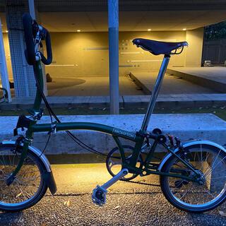 ブロンプトン(BROMPTON)の2018ブロンプトン P6L レーシンググリーン Brooks スペシャルサドル(自転車本体)