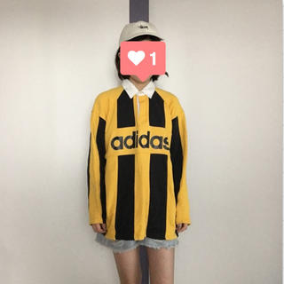 アディダス(adidas)のadidas ロゴポロシャツ(Tシャツ/カットソー(七分/長袖))