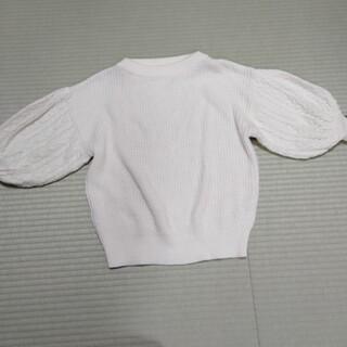 ジーユー(GU)のGU 白ホワイト ニット(ニット/セーター)