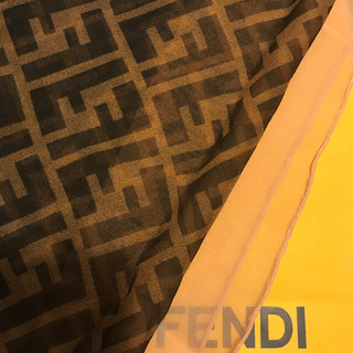 FENDI - フェンディ シルクスカーフ シフォン  Special rare ZUCCA