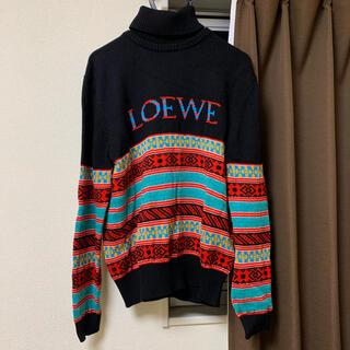 ロエベ(LOEWE)の【新品】LOEWE ジャガードニット ロゴ タートルネック ロエベ(ニット/セーター)