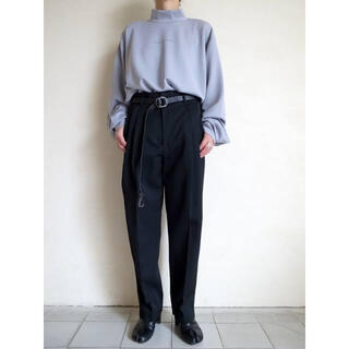SUNSEA - stein two tuck wide trousers 19aw