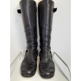 ミュウミュウ(miumiu)のミュウミュウ ロングブーツ 36 ブラック(ブーツ)