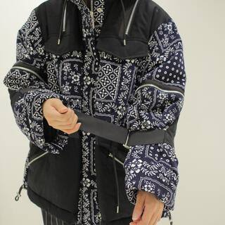 サカイ(sacai)のsacai 18AW ジップダウンジャケット サカイ ブルゾン コート(ダウンジャケット)