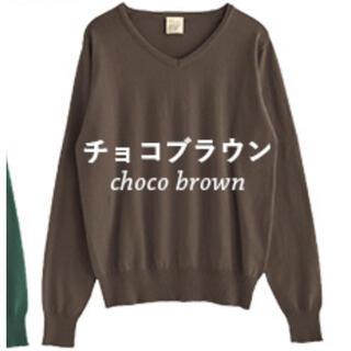 ズーティー(Zootie)の新品 ZOOTIE ウォッシャブルニット チョコブラウン L(ニット/セーター)
