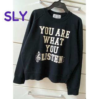 SLY - NEW✦︎SLY❤︎スウェット トレーナー❤︎ブラック