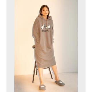 ジェラートピケ(gelato pique)の【PEANUTS】スヌーピージャガードドレス(ルームウェア)