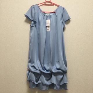エニィスィス(anySiS)のお値下げ‼️新品❣️4way  裾ビジュー ワンピース サイズ1(ミディアムドレス)