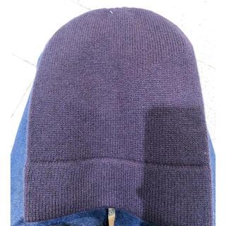 ジルサンダー(Jil Sander)のジルサンダー   ユニクロ カシミヤ  ニット帽 パープル(ニット帽/ビーニー)
