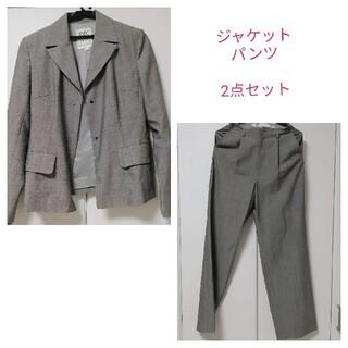 MICHEL KLEIN - MICHEL KLEINミシェルクランのグレーのスーツスーツ上下(パンツ)