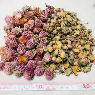 ドライフラワー ピンクの花とバラ/ローズ(つぼみ)(ドライフラワー)