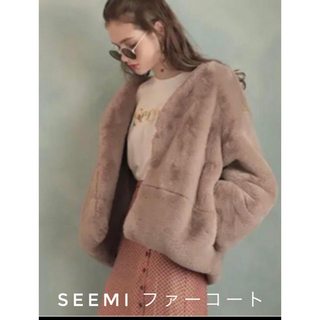 ナイスクラップ(NICE CLAUP)の【Seemi】Nice Claup ファーコート ピンク レディース(毛皮/ファーコート)