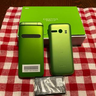 キョウセラ(京セラ)の新品同様 SIMロック解除済み GRATINA 4G KYF37 2台(携帯電話本体)