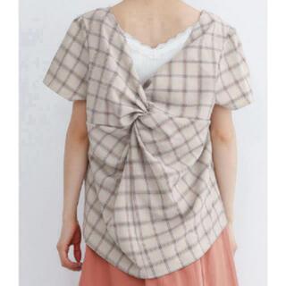 ダブルクローゼット(w closet)の!夏物処分SALE!メルロー バックリボン ブラウス(シャツ/ブラウス(半袖/袖なし))