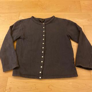 アニエスベー(agnes b.)のアニエスベー 子供服12歳 グレー裏起毛(カーディガン)
