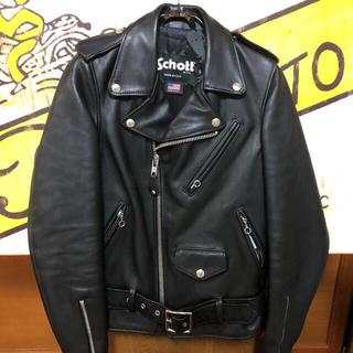 ショット(schott)の超美品‼️schottライダースJS別注 XS クリーニング済(ライダースジャケット)