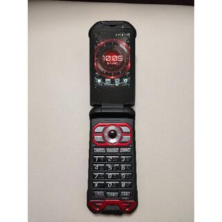 キョウセラ(京セラ)のau TORQUE X01 KYF33レッド(携帯電話本体)