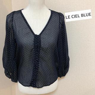 ルシェルブルー(LE CIEL BLEU)のLE CIEL BLUE ドット柄トップス(シャツ/ブラウス(長袖/七分))