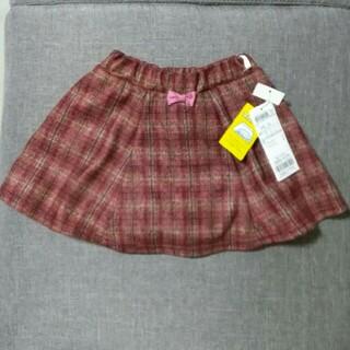 エニィファム(anyFAM)のany FAM  フリースパンツ付きチェックスカパン タグ付き 90(スカート)