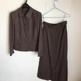 ロイスクレヨン(Lois CRAYON)のロイスクレヨン スェード 前ボタン フレア Aラインスカート  セットアップ(セット/コーデ)