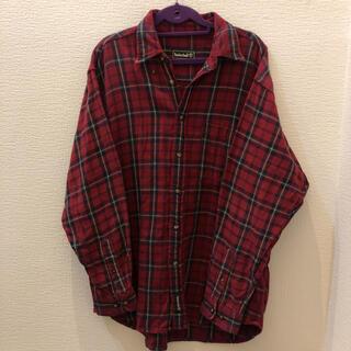 ティンバーランド(Timberland)の【Timberland】 赤チェックシャツ  ビッグシルエット(シャツ)