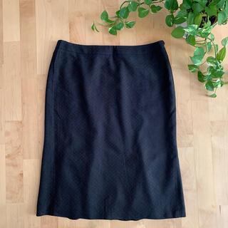 マックスマーラ(Max Mara)のMax Mara マックスマーラ シルク混スカート ブラック Lサイズ(ロングスカート)