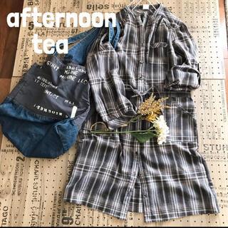 アフタヌーンティー(AfternoonTea)のafternoon tea アフターヌーンティー チェック シャツ ワンピース(ひざ丈ワンピース)
