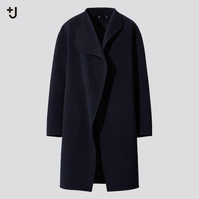 UNIQLO(ユニクロ)のJ+ UNIQLO ユニクロ ジルサンダーカシミヤ ブレンド ノーカラー コート レディースのジャケット/アウター(その他)の商品写真