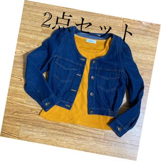 ダズリン(dazzlin)のお値下げ ダズリン デニムジャケット 半袖トップス セット(セット/コーデ)