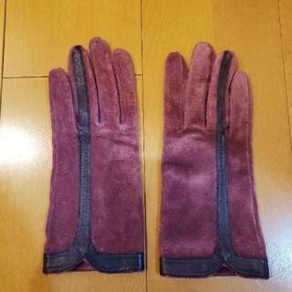 トゥモローランド(TOMORROWLAND)のピンクレザーグローブ(手袋)