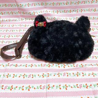 アクシーズファム(axes femme)のファーバッグ ショルダー axes femme 黒猫 ブラック(ショルダーバッグ)