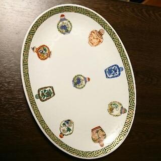 イセタン(伊勢丹)のチャイナシーズ楕円大皿(食器)