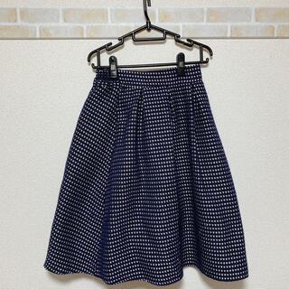 プールスタジオ(pool studio)のツイードフレアスカート(ひざ丈スカート)