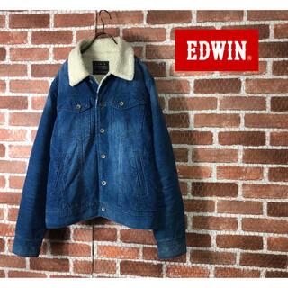 エドウィン(EDWIN)の【希少】90s EDWIN エドウィン ボアフリース デニムジャケット 古着(ブルゾン)