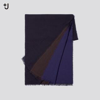 ユニクロ(UNIQLO)の新品タグ付 ユニクロ×ジルサンダー +J ウールストール  ネイビー 完売品(ストール)