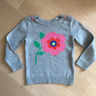 ベビーギャップ(babyGAP)のベビーギャップ コットン セーター flower グレー 95cm(ニット)
