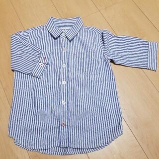 フェリシモ(FELISSIMO)の5分袖 ストライプシャツ(Tシャツ/カットソー)