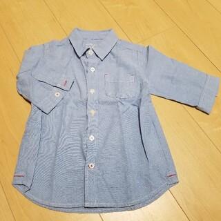 フェリシモ(FELISSIMO)の5分袖 ブルーシャツ(Tシャツ/カットソー)