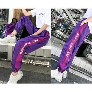 スピンズ(SPINNS)の紫 ストリート パンツ ズボン 原宿系 ダンス衣装 韓国(カジュアルパンツ)