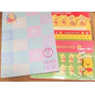 クマノプーサン(くまのプーさん)の★別出品ミッキー追加!★ くまのプーさん レターセット 便箋 封筒 Disney(カード/レター/ラッピング)
