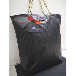 ランバン(LANVIN)の美品◆LANVIN PARIS ランバン レザー ショッパー トート バッグ 黒(トートバッグ)