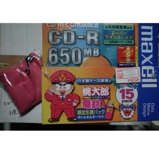 マクセル(maxell)の桃太郎電鉄V DVD-R  maxell 12倍速 新品89枚 ペットボトルカバ(DVDレコーダー)